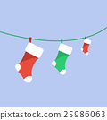 Christmas family stockings. Christmas symbol. 25986063