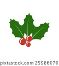 Christmas Holly berry icon. Christmas symbol. 25986070