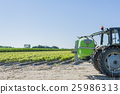 Tractor with equipment for pesticide treatment 25986313