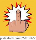 middle finger comic retro pop art white bubble 25987827