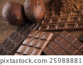 Chocolate bar, candy sweet, cacao beans and powder 25988881