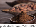 Cacao beans and powder and food dessert  25988897