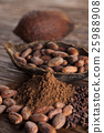Cacao beans and powder and food dessert 25988908