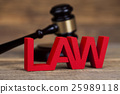 Law and justice concept, wooden gavel 25989118