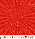 紅色輻形金銀色的日本式背景 25991541
