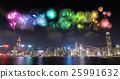Fireworks Festival over Hong Kong city 25991632