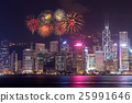 Fireworks Festival over Hong Kong city 25991646
