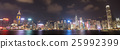 Hong Kong city, view from Victoria Harbour 25992399