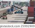 Industrial Container Cargo with working  25992909