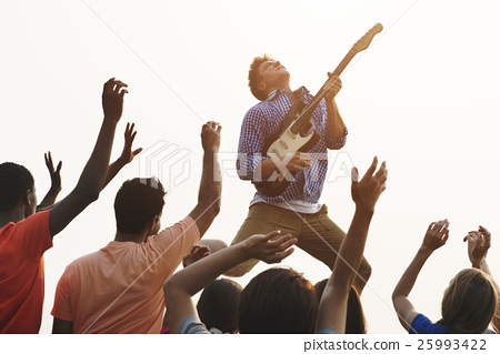 Concert Guitar Joyful Happy Gathering Group Concept 25993422