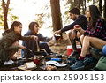 Friends Camping Eating Food Concept 25995153