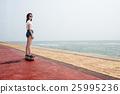 Skateboard Recreational Pursuit Summer Beach Holiday Concept 25995236