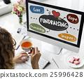 Donations Charity Volunteer Words Concept 25996428