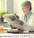 newspaper, reading, senior 25997012