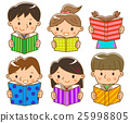 아이, 독서, 여자 25998805