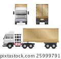 Trailer truck vector 25999791