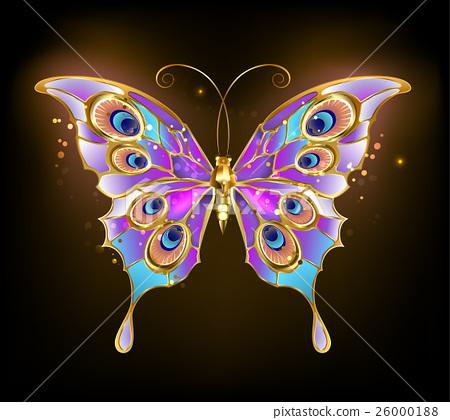 gold butterfly peacock - Stock Illustration [26000188] - PIXTA