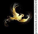 bird, vector, gold 26000249