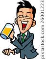 男性喝啤酒 26001223