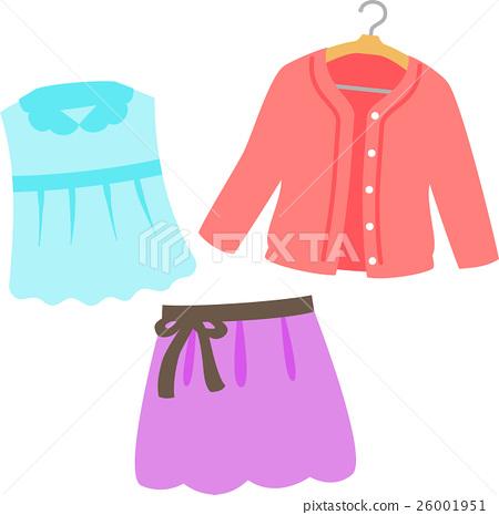 服装 裙子 开襟羊毛衫 26001951