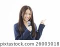 女性 話筒 麥克風 26003018