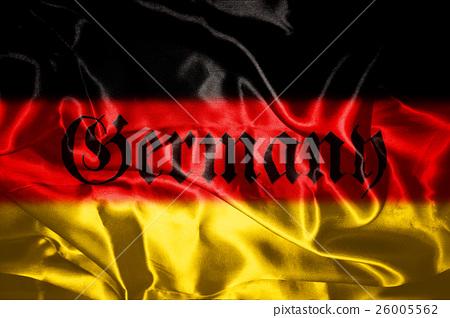 German flag blowing in the wind 26005562