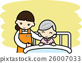 nursing, grandmother, bed 26007033