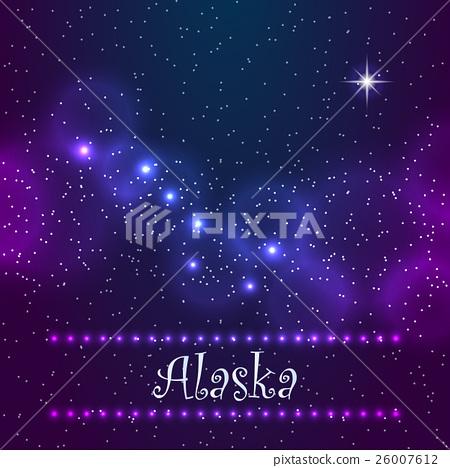 Constellation the Great Bear and Polaris. Symbol 26007612