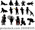 babies and toddlers silhouettes collection 26008505