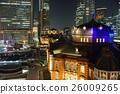도쿄역의 야경 26009265