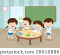 Group of Children and Tutor with tablets in a clas 26010886