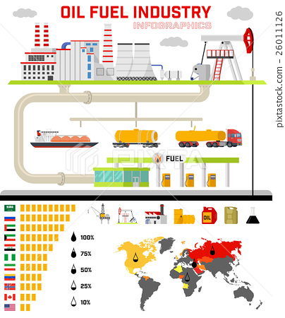 Oil fuel industry infographics. 26011126