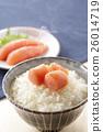 家常鱈魚的魚子 鱈子 食物 26014719