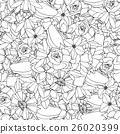 Floral seamless pattern 26020399