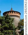 Sforza Castle in Milan Italy - Castello Sforzesco 26020421