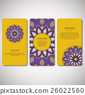 Set of template cards with mandala. 26022560