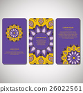 Set of template cards with mandala. 26022561