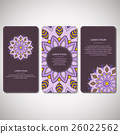 Set of template cards with mandala. 26022562
