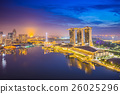 Singapore city skyline and view of Marina Bay 26025296