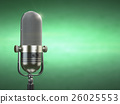 Retro old microphone. Radio show or audio podcast  26025553