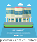 Supermarket Web Template in Flat Design 26026620
