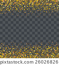 gold glitter particles on transparency background  26026826