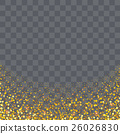 gold glitter particles on transparency background  26026830