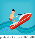 Vector male character in flat style - young man  26028588