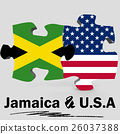 USA and Jamaica flags in puzzle 26037388