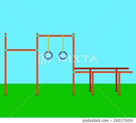 Sports horizontal bars 26037609