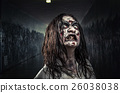 Zombie woman with bloody face 26038038