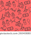 Amusement park pattern 26040880