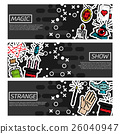 Set of Horizontal Banners about magic 26040947