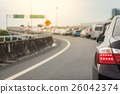 traffic jam with row of cars 26042374